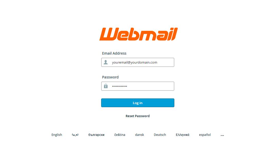 Web Mail login