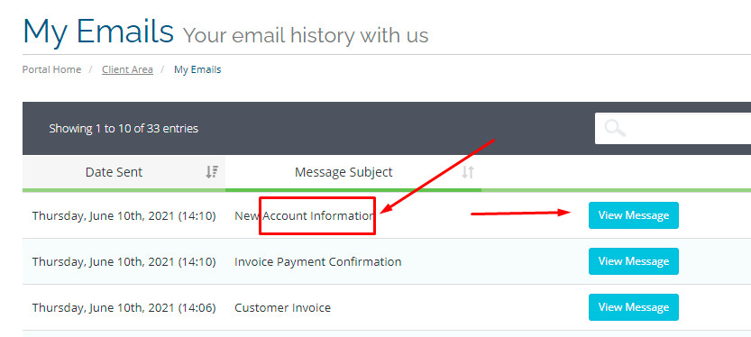 Find out account information email