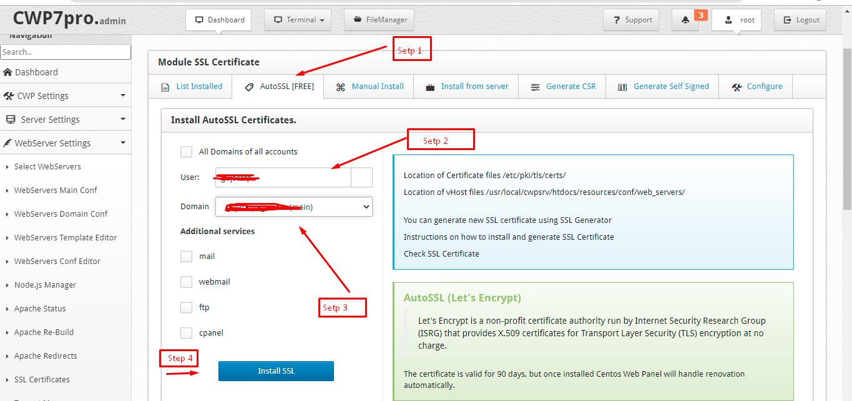 Final Step to install SSL